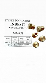 DYSZE INDESIT M7x0.75 PROPAN-BUTAN