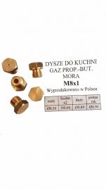 DYSZE KUCHENKI MORA M8x1 PROPAN-BUTAN (KOMPLET)