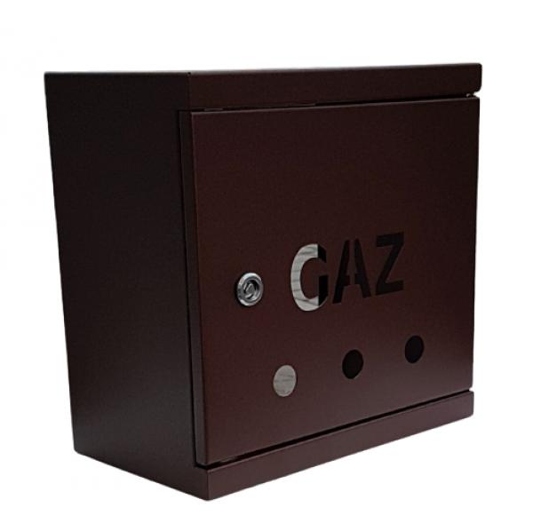 SKRZYNKA GAZ250x250x150 RAL 8016 SG25-15b BRZ - Zdjcie 1