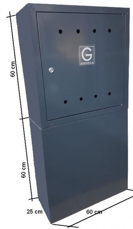 SKRZYNKA GAZOWA 60x60x25 Z POSTUMENTEM GRAFIT - Zdjcie 1
