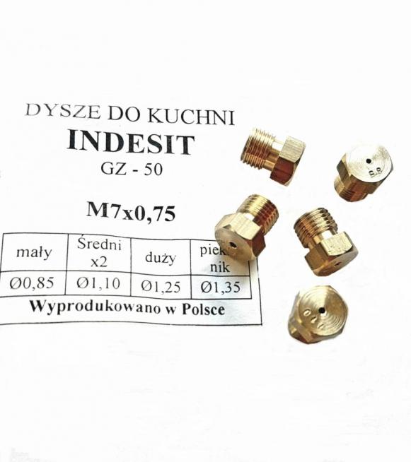 DYSZE INDESIT M7x075 GZ-50 brGAZ ZIEMNY - Zdjcie