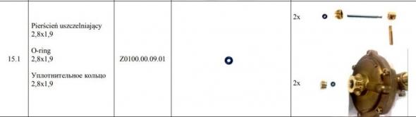 PIERSCIE USZCZELNIAJCY G19-00 28x19 Z0100000901 - Zdjcie 2