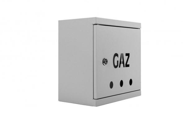 SKRZYNKA GAZOWA 25x25x15 RAL 7037 SG25-15s SZARY - Zdjcie 1