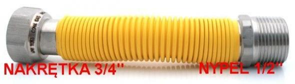 PRZEWD GAZOWY 3/4x1/2 130-220 ROZCIGLIWY CONAGAS - Zdjcie